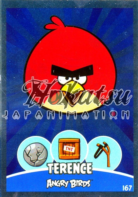 Angry Birds,Terence ,167/180 ,Angry Birds,Unit Cards,Card to be  collected,Playing card,card,Hokatsu com,Hokatsu Fr,Hokatsu,Sale,