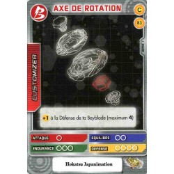 083/160 Commune Axe de rotation
