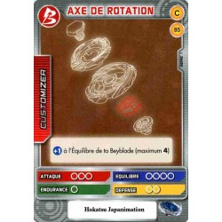 085/160 Commune Axe de rotation