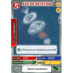 086/160 Commune Axe de rotation