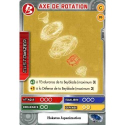 089/160 Commune Axe de rotation