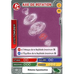 090/160 Commune Axe de rotation