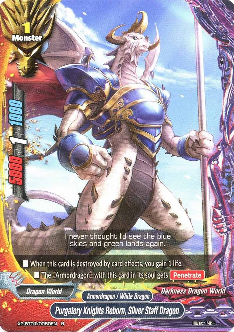 Silver Staff Dragon BuddyFight X2-BT01//0050 U Purgatory Knights Reborn
