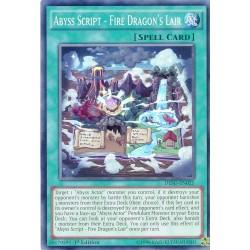 DESO-EN025 Abyss Script - Fire Dragon's Lair  / Script des Abysses - Tanière du Dragon de Feu