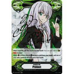 CFV V-GM/0011EN Gift Marker - Secret Rare  Protect - Misaki Tokura Signed