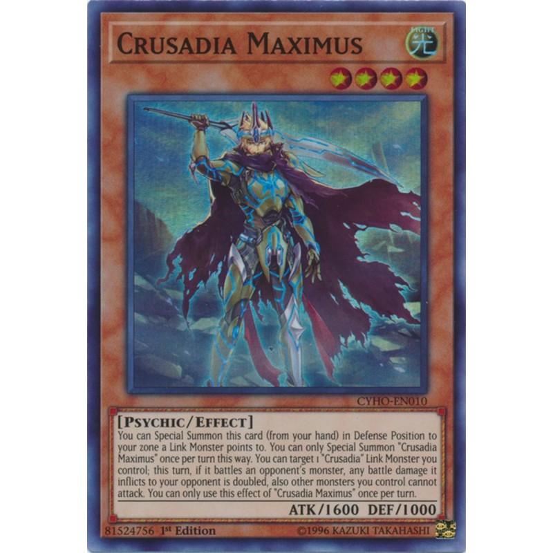 Crusadia Maximus Super Rare 1st Edition NM Yugioh CYHO-EN010