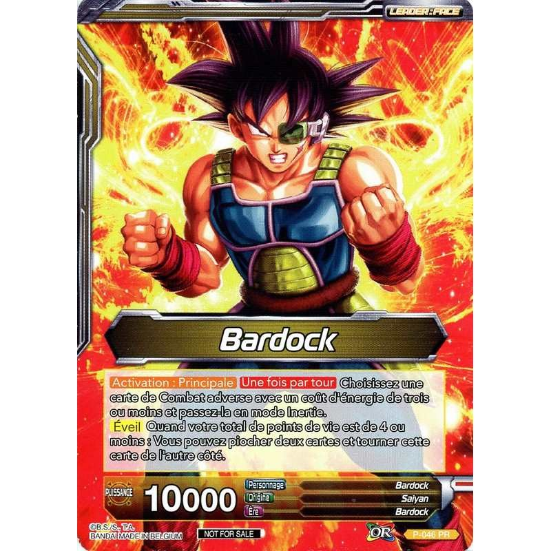 Dbs P 046 Pr Bardock The Tournament Of Power Card In The Unity Dragon