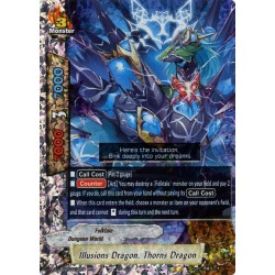 BFE S-UB02/0014EN RR Illusions Dragon, Thorns Dragon