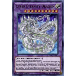 YGO LED3-EN012 Dragon Cyber Éternité / Cyber Eternity Dragon