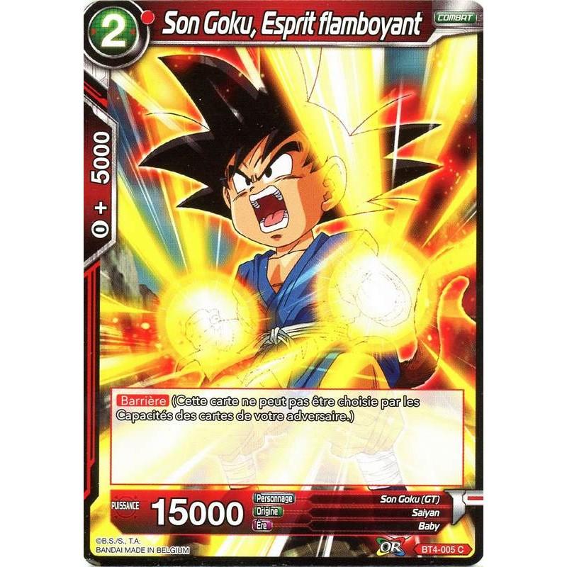Dbs Bt4 005 C Blazing Spirit Son Goku The Tournament Of Power Card In