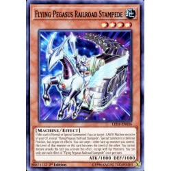 YGO LED4-EN036 Flying Pegasus Railroad Stampede