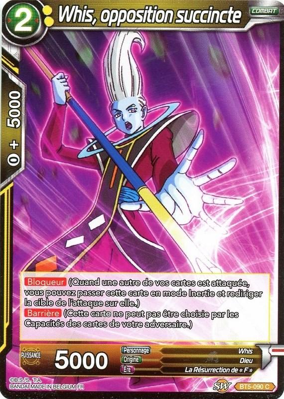 X4cards DBS BT5-090 C Whis opposition succincte BT5-090 Carte DBS MIRACULOUS RE