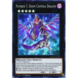 YGO DANE-EN092 Numéro 5 : Dragon Chimère de la Mort / Number 5: Doom Chimera Dragon