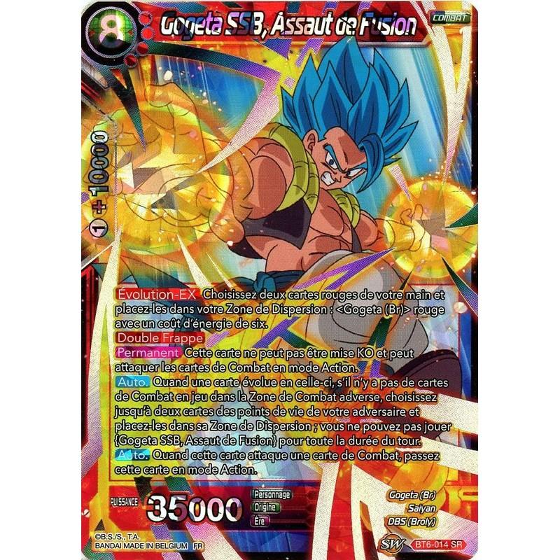GOGETA SSB Assaut de fusion DRAGON BALL SUPER CARD GAME FR BT6-014 SR
