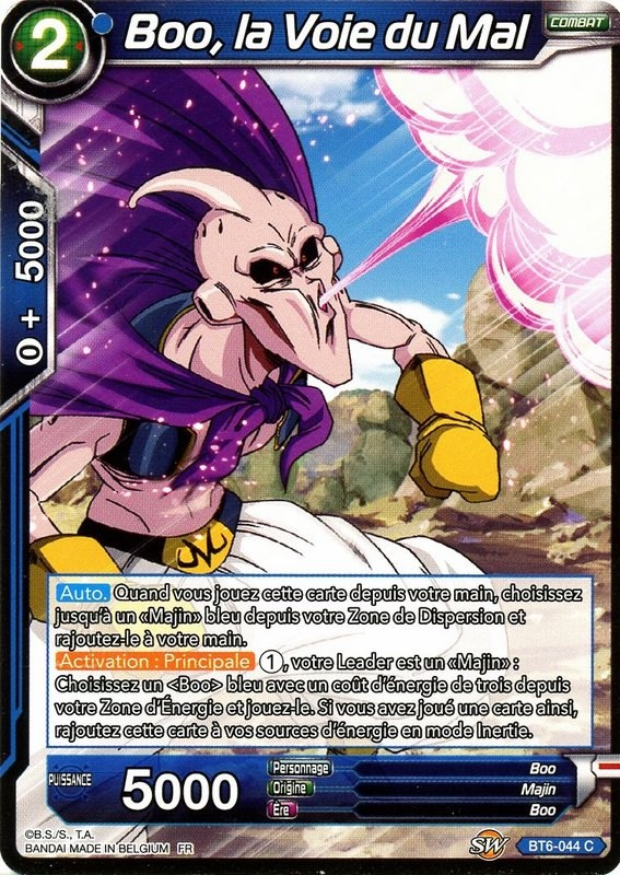 Dbs Bt6 044 C Unadulterated Evil Majin Buu Destroyer Kings Card In The