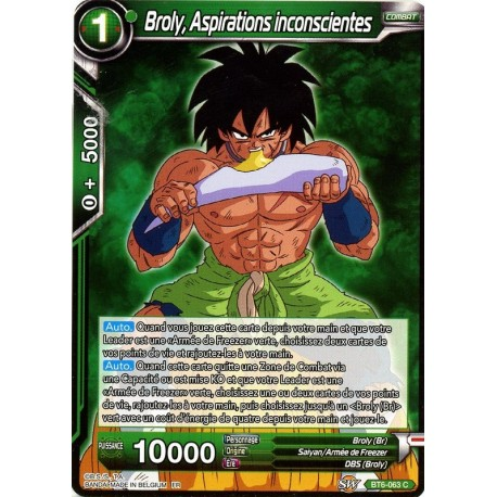DBS BT6-063 C Broly, Unrealized Ambition