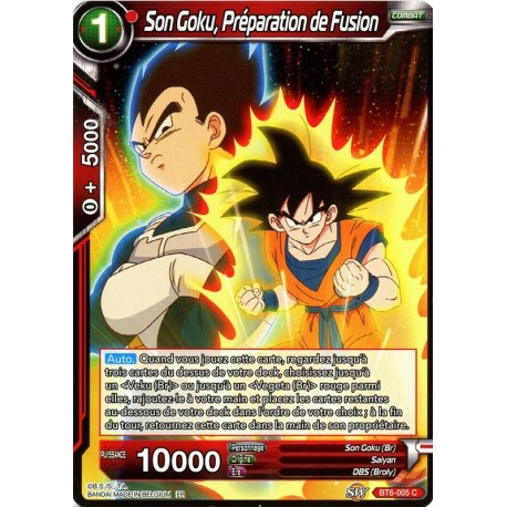 DBS BT6-005 FOIL/C Son Goku, Prepping for Fusion