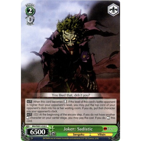 BNJ/SX01-018 C Joker: Sadistic