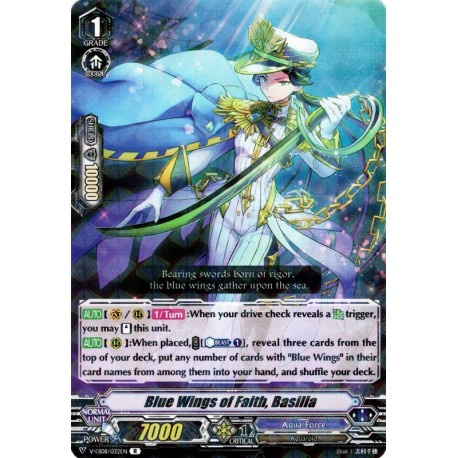 Aqua Force V Standard Deck 8 w// Blue Wings of Faith Basilia CARDFIGHT VANGUARD