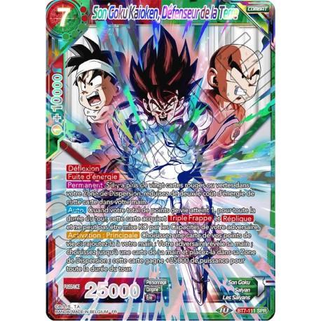 DBS BT7-111 SPR Son Goku Kaioken, Défenseur de la Terre