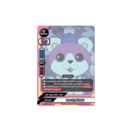 BFE S-UB-C02/0047EN U Bear DJ, Michelle