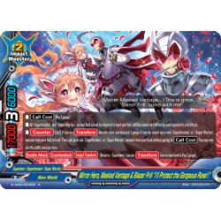 "BFE S-UB05/0034EN Foil/R Mirror Hero, Masked Vantage & Blazer Frill ""I'll Protect the Gorgeous Rose!!"""