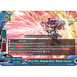 """BFE S-UB05/0036EN Foil/R Mirror Hero, Rampage Sonic """"Blaster Knuckle!!"""""""