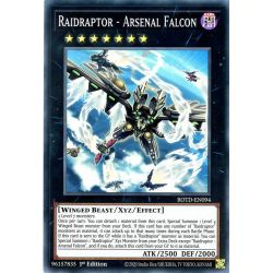 YGO ROTD-EN094 Raidraptor - Arsenal Faucon  / Raidraptor - Arsenal Falcon