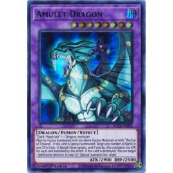 YGO DLCS-EN005 Dragon Amulette (Blue)  / Amulet Dragon (Blue)