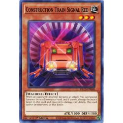 YGO DLCS-EN040 Train de Construction Signal Rouge  / Construction Train Signal Red