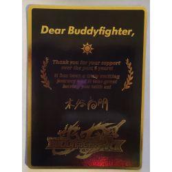 "BFE S-UB06 thanksEN GOLD Last Card BuddyFight ""THANKS"""