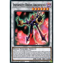 YGO PHRA-EN037 SuR Infernity Doom Archfiend