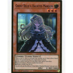 YGO MAGO-EN012 Gold Rare Ghost Belle & Haunted Mansion V2