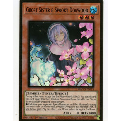 YGO MAGO-EN013 Gold Rare Ghost Sister & Spooky Dogwood V2