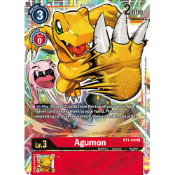 BT1-010 R Agumon Digimon Alternative Art