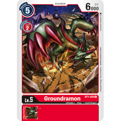 BT1-020 U Groundramon Digimon
