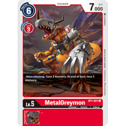 BT1-021 U MetalGreymon Digimon