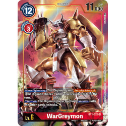 BT1-025 SR WarGreymon Digimon Alternative Art