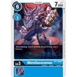 BT1-040 U WereGarurumon Digimon