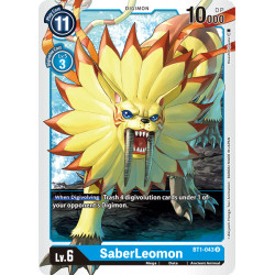 BT1-043 U SaberLeomon Digimon