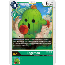 BT1-074 R Togemon Digimon