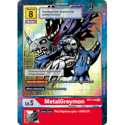BT1-114 SEC MetalGreymon Digimon Alternative Art