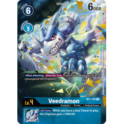 BT1-115 SEC Veedramon Digimon Alternative Art