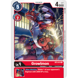 BT2-013 U Growlmon Digimon