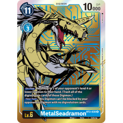 BT2-030 R MetalSeadramon Digimon Alternative Art