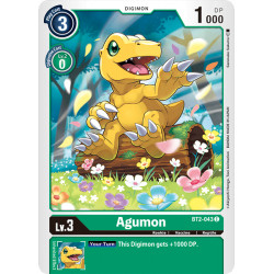 BT2-043 C Agumon Digimon