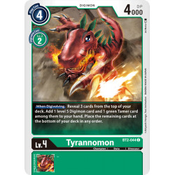 BT2-044 C Tyrannomon Digimon