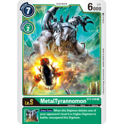 BT2-046 R MetalTyrannomon Digimon
