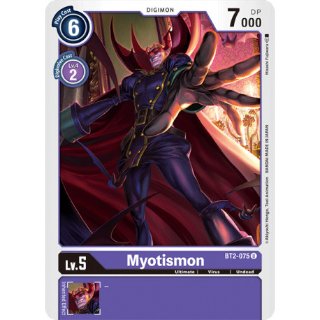 BT2-075 U Myotismon Digimon