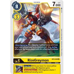 BT2-038 R RizeGreymon Digimon